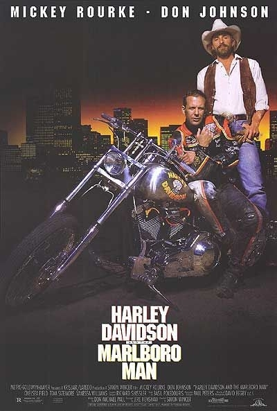 La locandina di Harley Davidson e Marlboro Man