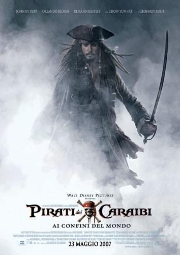 La locandina italiana di Pirati dei Caraibi - Ai confini del mondo