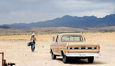 Una scena del film No Country for Old Men