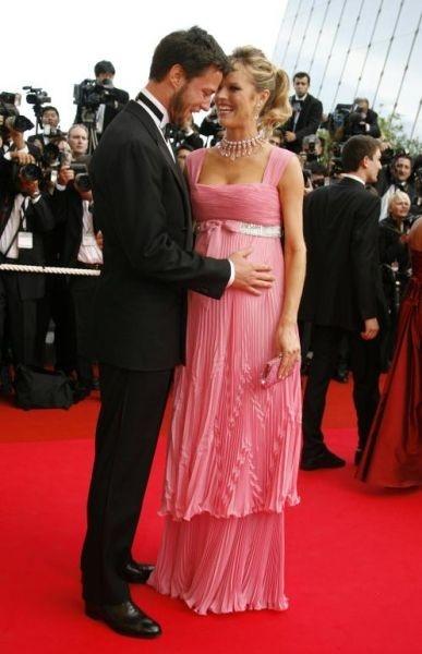 Cannes 2007: Eva Herzigova (in dolce attesa) con suo marito