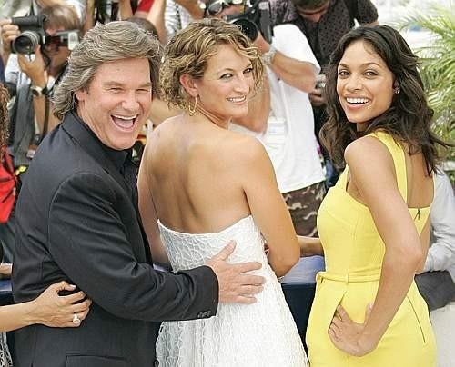 Cannes 2007: Kurt Russell, Rosario Dawson e Zoe Bell presentano Grindhouse - A prova di morte