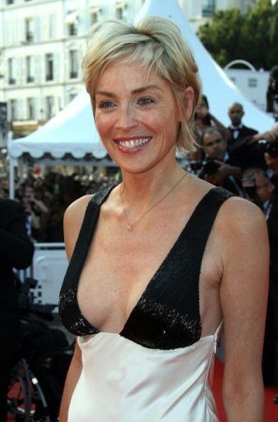 Cannes 2007: una sorridente Sharon Stone