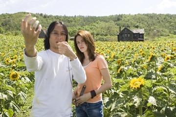 Danny Pang e Kristen Stewart sul set del film The Messengers