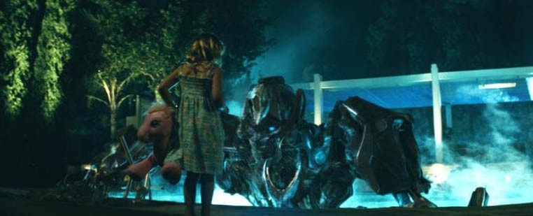Una scena del film Transformers