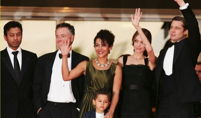Il cast di A Mighty Heart a Cannes con Mariane Pearl