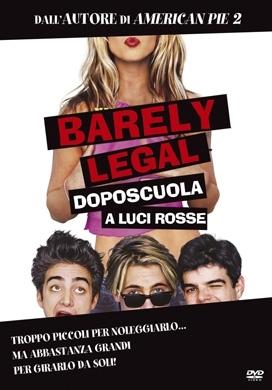La copertina DVD di Barely Legal - Doposcuola a luci rosse