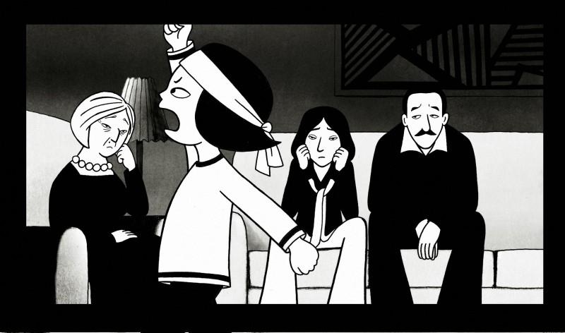 Un'immagine del film 'Persepolis' tratto dalla graphic novel di Marjane Satrapi