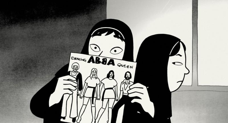 Un'immagine del film d'animazione 'Persepolis'