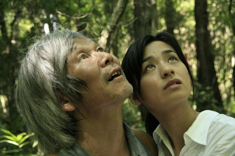 Una scena del film 'The Mourning Forest'