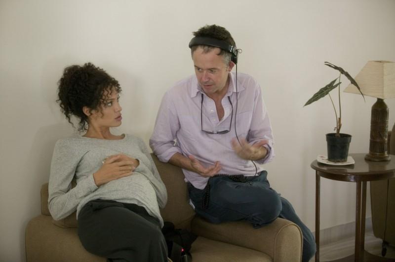 Angelina Jolie e Michael Winterbottom sul set del film A Mighty Heart