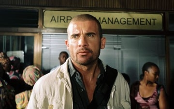 Dominic Purcell in una sequenza del film Primeval