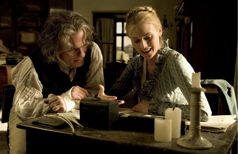 Ed Harris con Diane Kruger in Copying Beethoven
