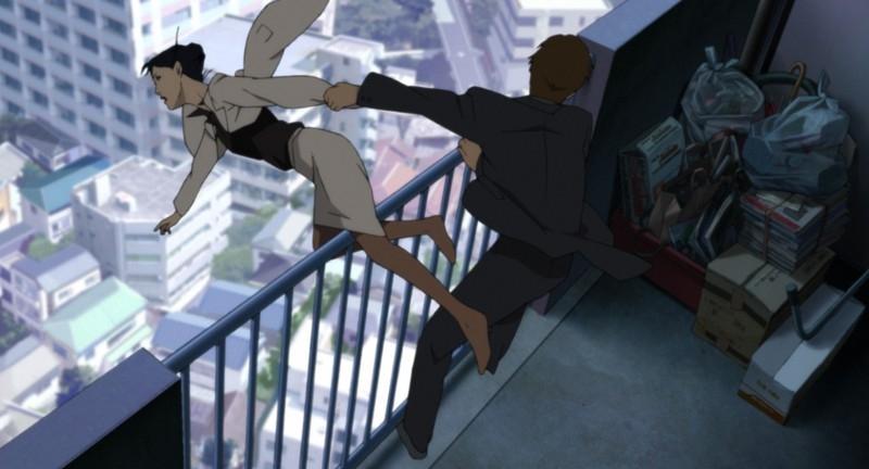 Una scena del film Paprika - Sognando un sogno, per la regia di Satoshi Kon