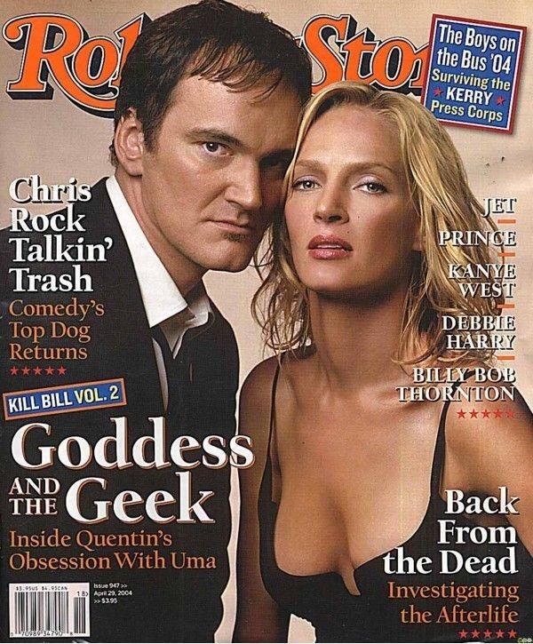 La cover del Riolling Stone per Quentin Tarantino e Uma Thurman