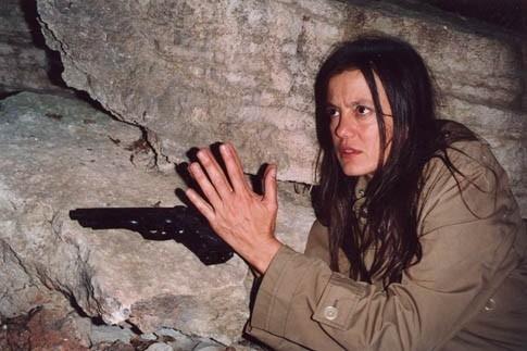 Elvira Giannini in una scena del film Guido che sfidò le Brigate Rosse