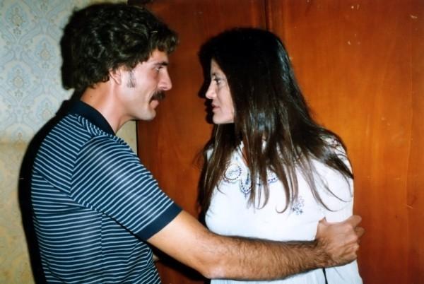 Gianmarco Tognazzi e Elvira Giannini in una scena del film Guido che sfidò le Brigate Rosse