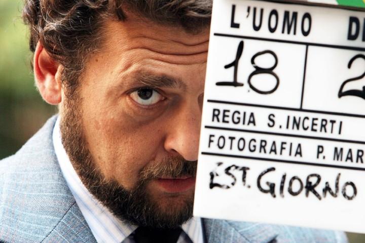 Foto scattata sul set del film L'uomo di vetro