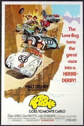 La locandina di Herbie al Rally di Montecarlo
