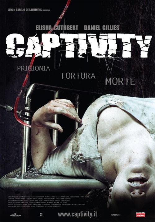 La locandina italiana del thriller Captivity