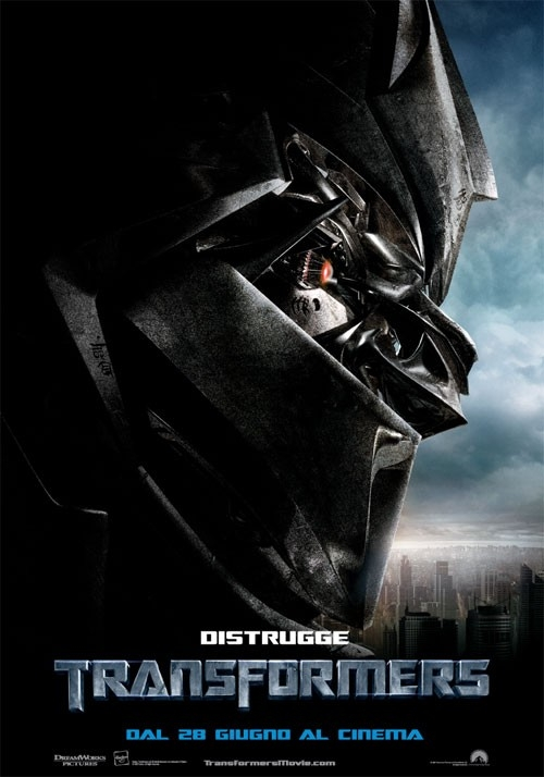 La locandina italiana di Transformers