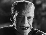 Boris Karloff è il mostruoso protagonista de La moglie di Frankenstein