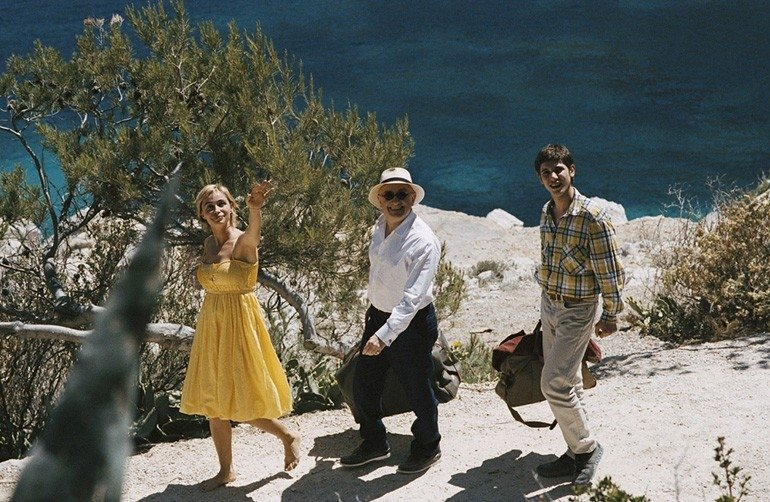 Michel Blanc, Emmanuelle Béart e Johan Libéreau in una scena del film I testimoni