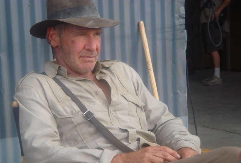Harrison Ford sul set di Indiana Jones 4