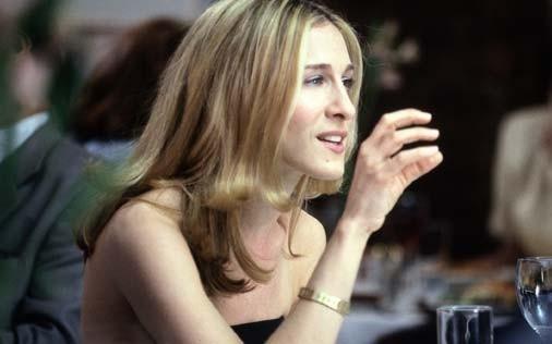 Sarah Jessica Parker in una scena di Sex and the City, episodio Sesso a tre