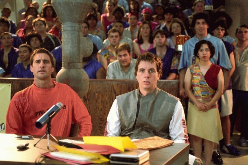 Dax Shepard con Luke Wilson in una scena del film Idiocracy