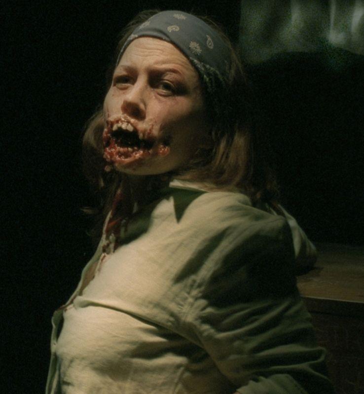 una scena terrificante del film Reeker