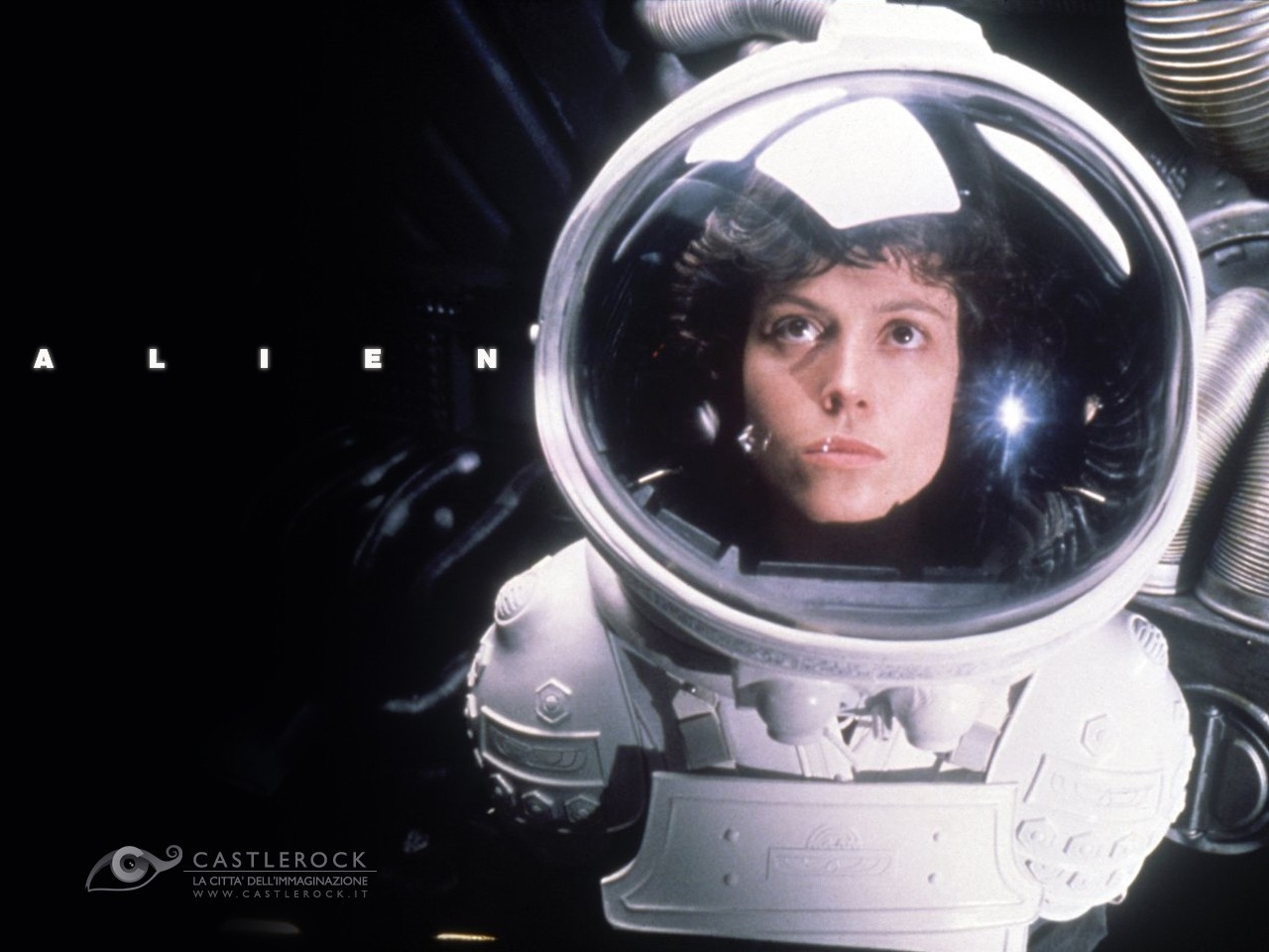Wallpaper del film Alien con Sigourney Weaver