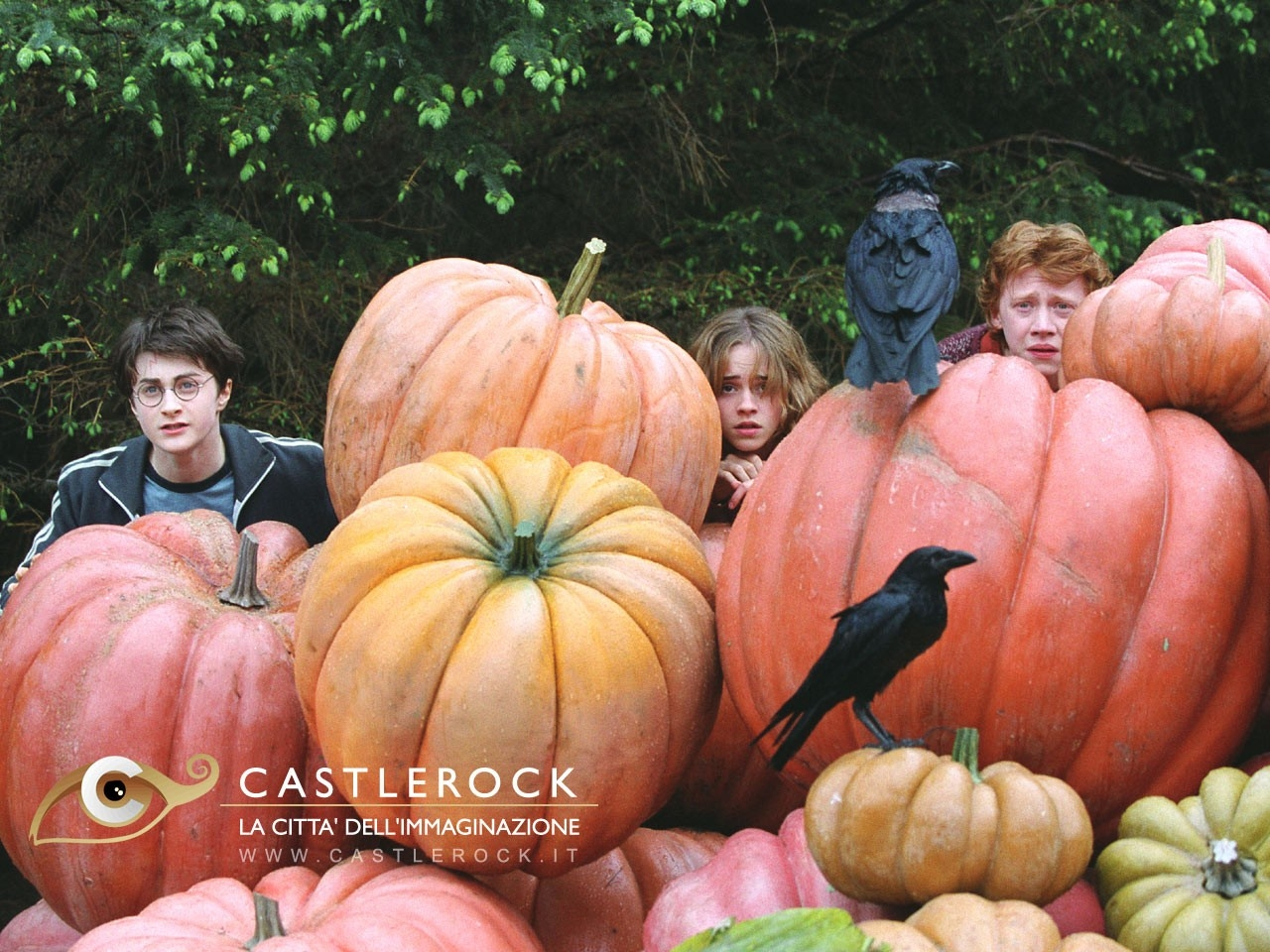 Wallpaper del film Harry Potter e il prigioniero di Azkaban con i tre protagonisti