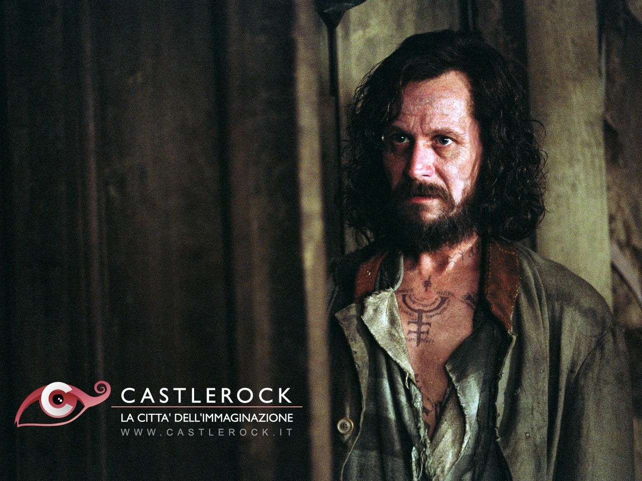 Wallpaper del film Harry Potter e il prigioniero di Azkaban con il fascinoso Gary Oldman