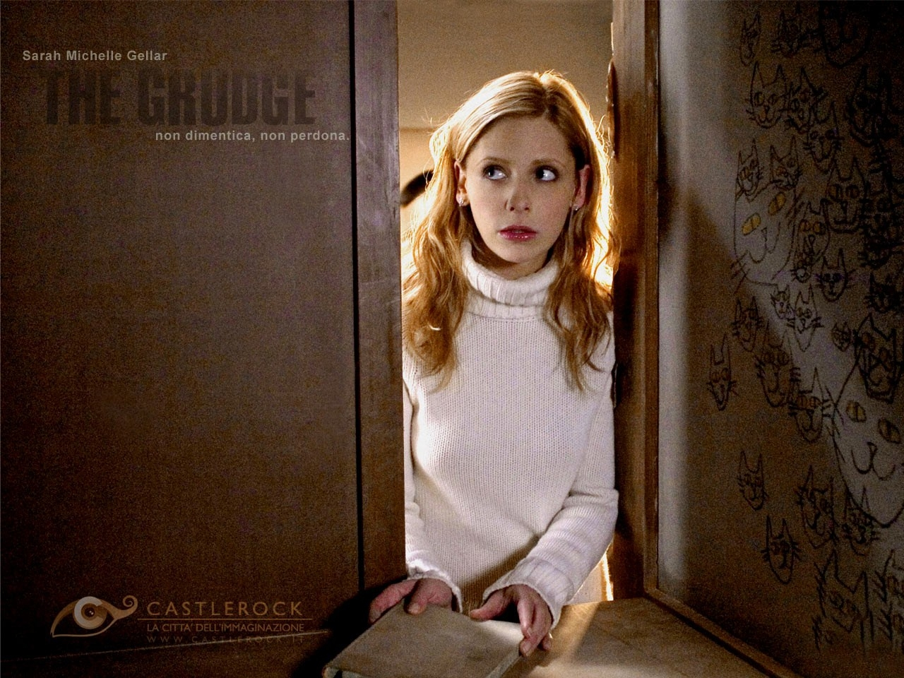 Wallpaper del film The Grudge con Sarah Michelle Gellar