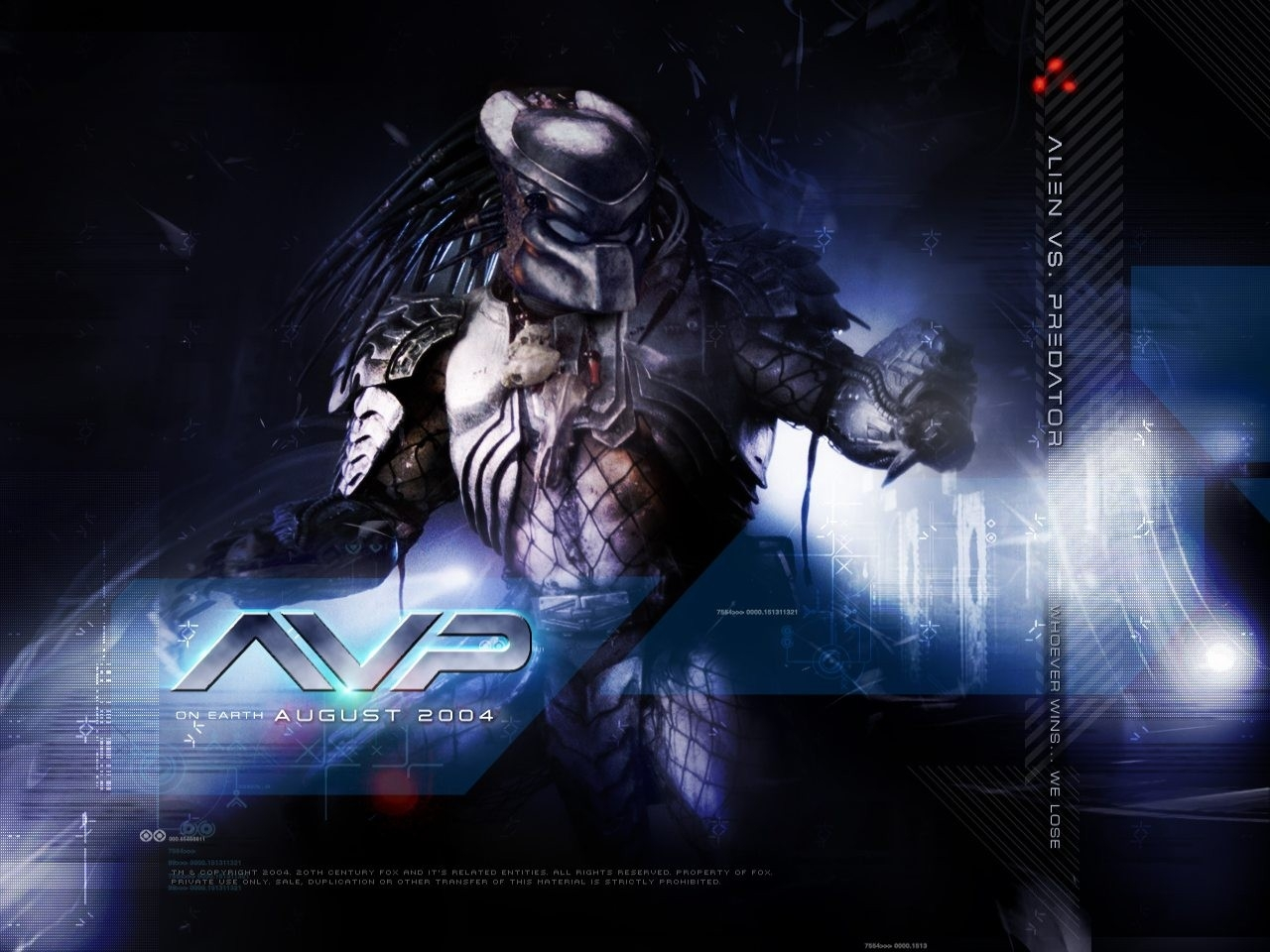 Wallpaper del film Alien Vs. Predator, del 2004