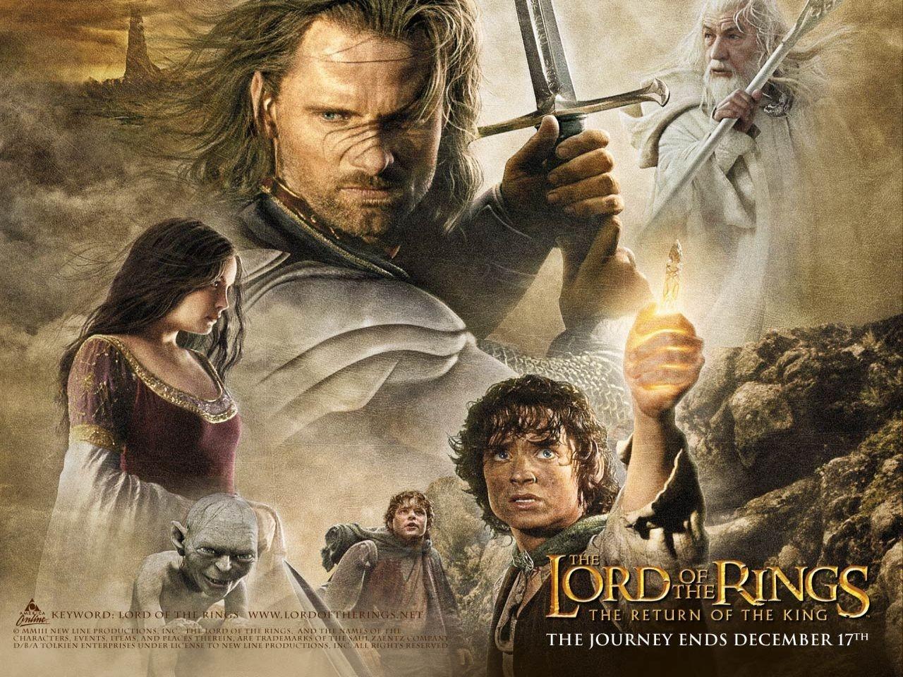 Wallpaper del film Il signore degli anelli - Il ritorno del re con Aragorn