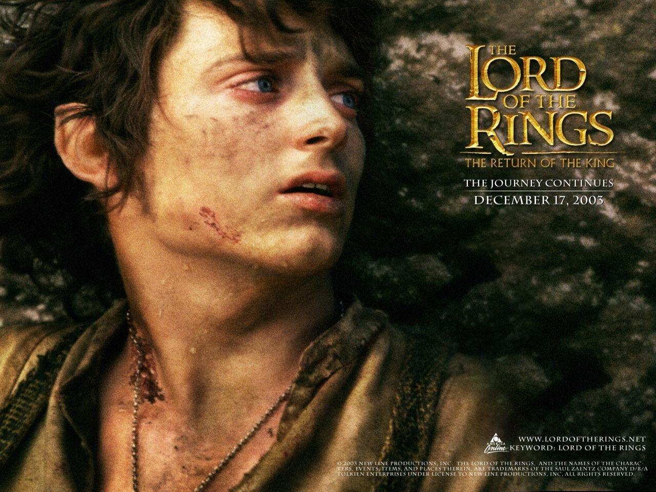 Wallpaper del film Il signore degli anelli - Il ritorno del re con Elijah Wood