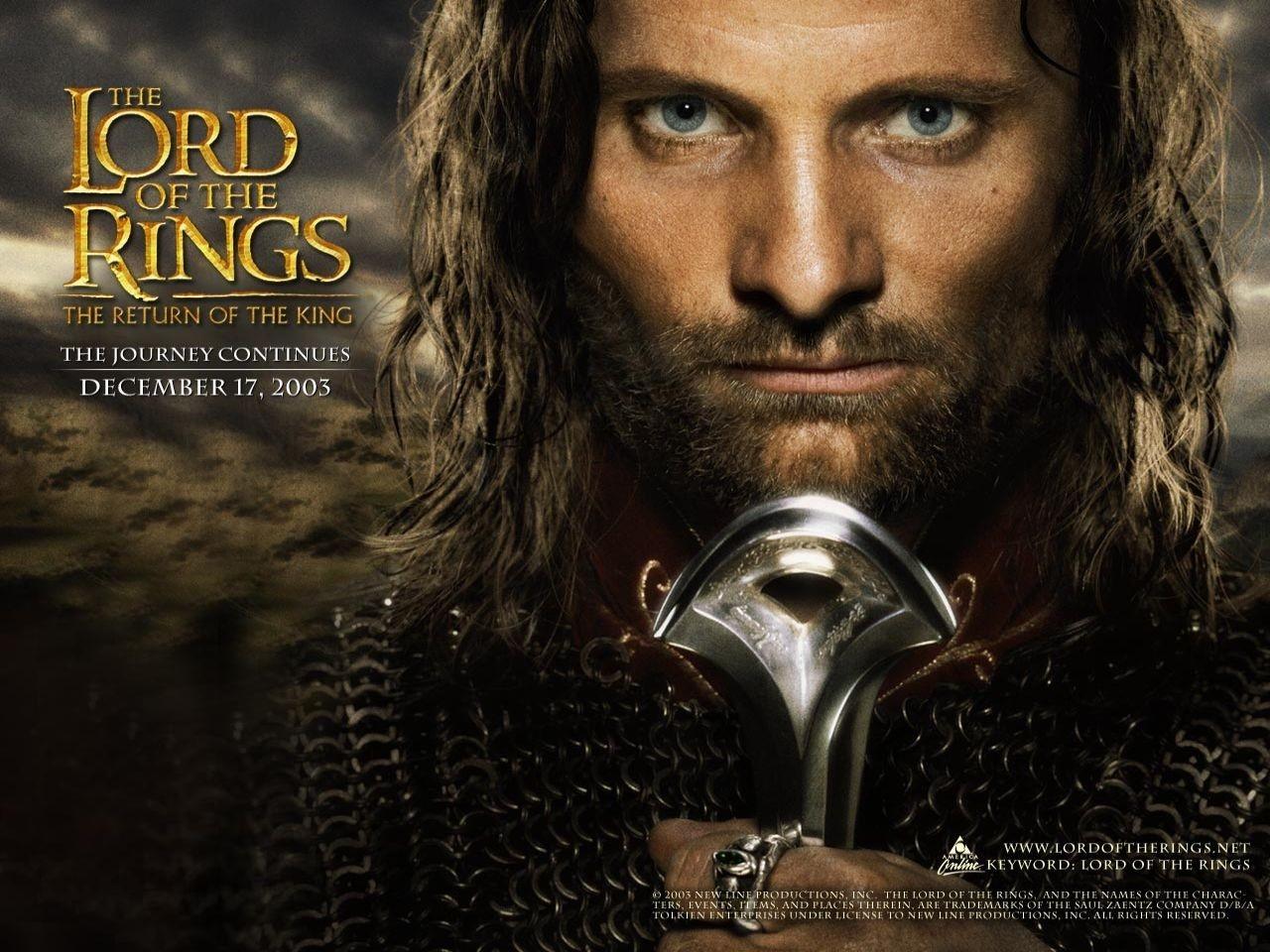 Wallpaper del film Il signore degli anelli - Il ritorno del re con Viggo Mortensen