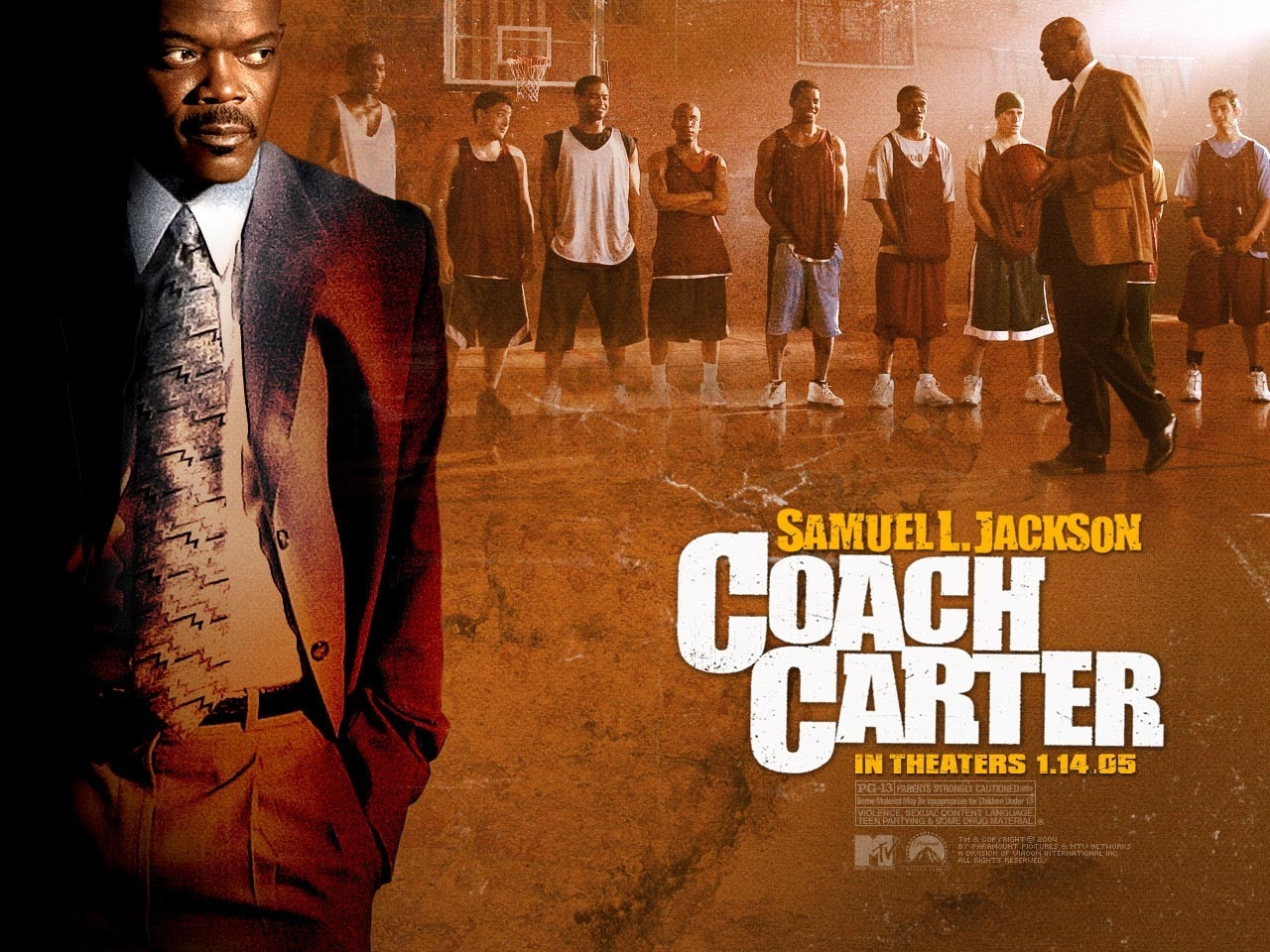 Wallpaper del film Coach Carter con Samuel L.Jackson
