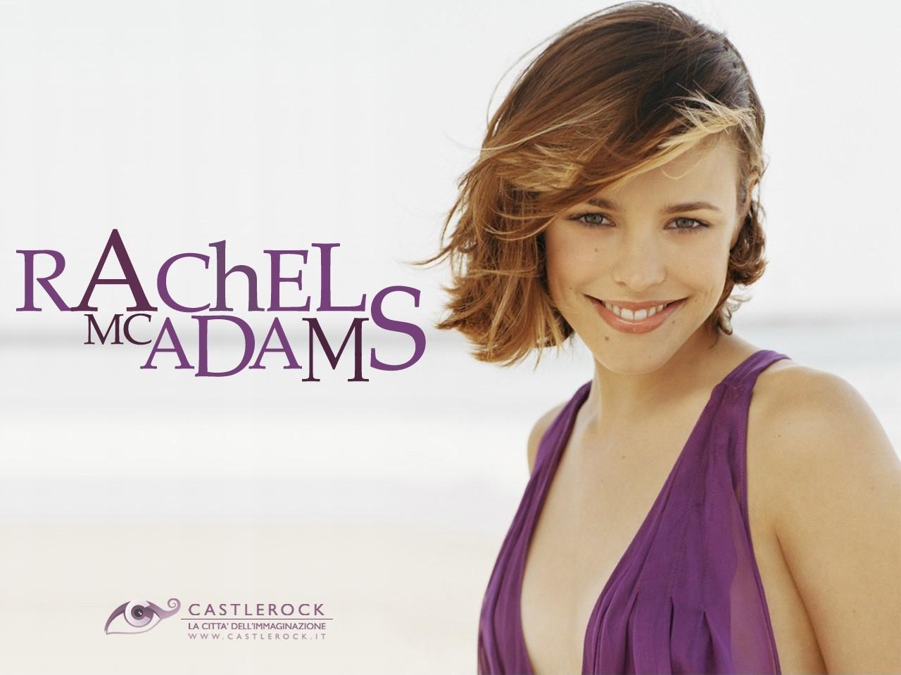 Wallpaper di Rachel McAdams con abito viola