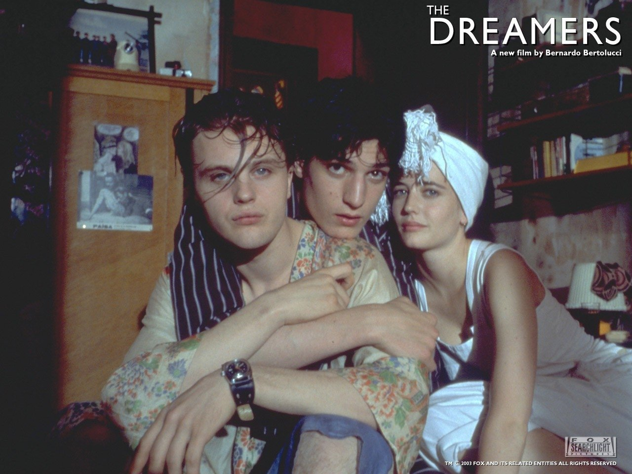 Wallpaper del film The dreamers - I sognatori in una delle scene più erotiche del film