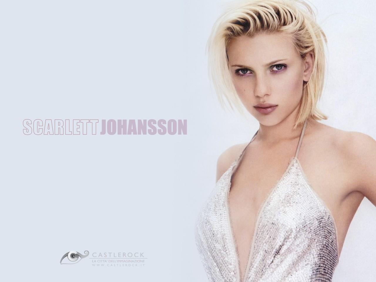 Wallpaper di Scarlett Johansson in abito lamè