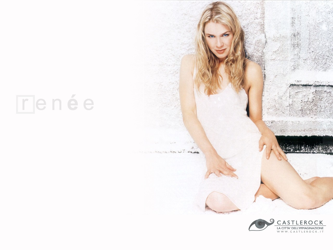 Wallpaper di Renée Zellweger in bianco