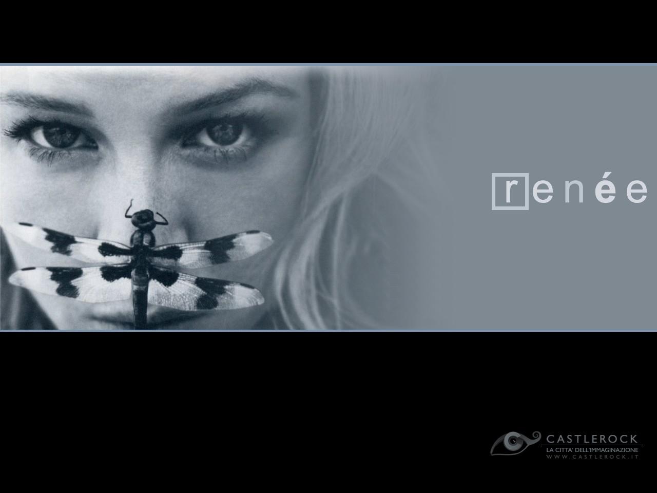 Wallpaper di Renée Zellweger con libellula