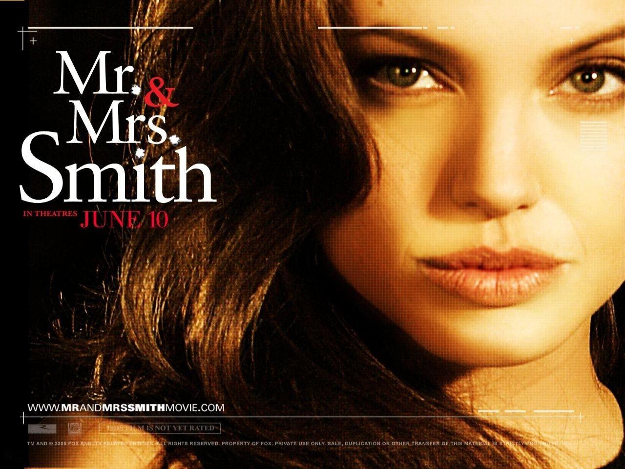 Wallpaper del film Mr. and Mrs. Smith con Angelina Jolie