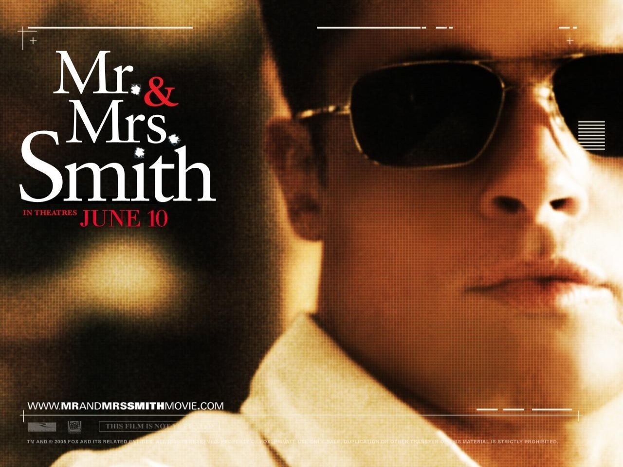 Wallpaper del film Mr. and Mrs. Smith con Brad Pitt