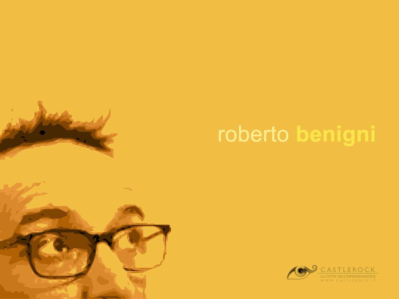 Wallpaper giallo di Roberto Benigni