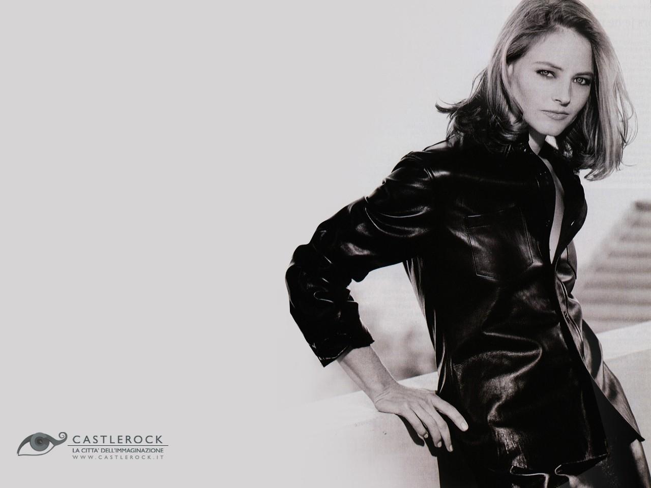 Wallpaper di Jodie Foster in bianco e nero
