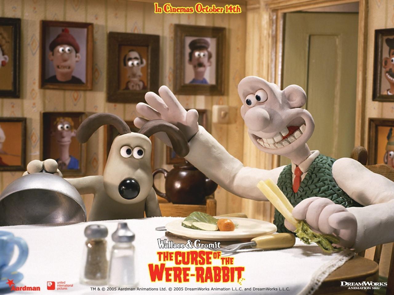 Wallpaper del film d'animazione Wallace & Gromit - La maledizione del coniglio mannaro