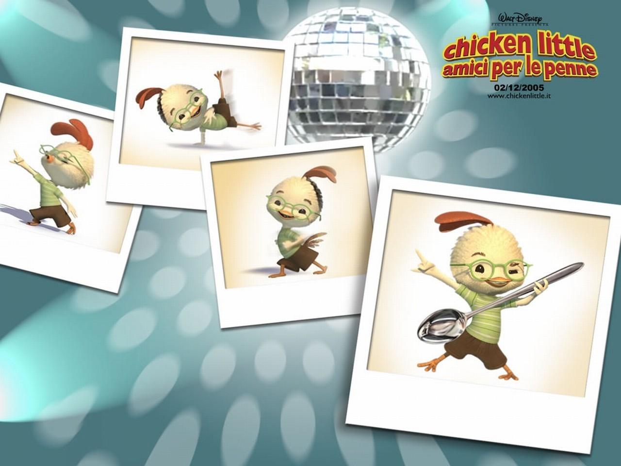 Wallpaper del film d'animazione Chicken Little - Amici per le penne